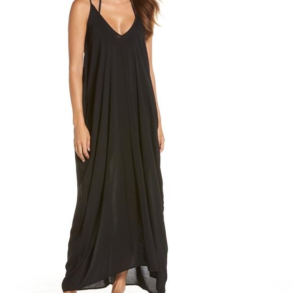 Elan Dresses & Skirts - Elan black Maxi dress or swim cover up size XS